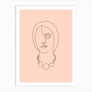 Squisita Minimal Line Portrait Art Print