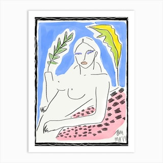 Watercolor Nude Art Print