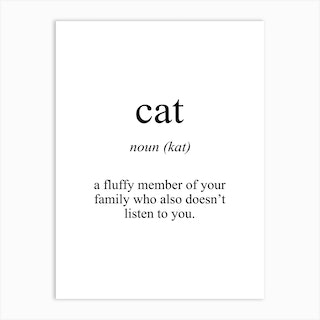 Cat Meaning Art Print