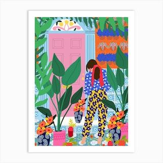 Inside My Personal Garden Art Print