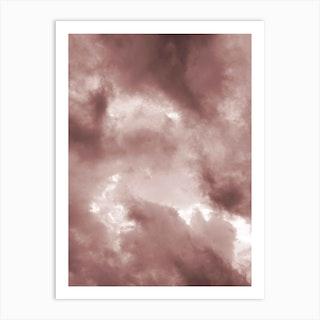 Blush Clouds Art Print