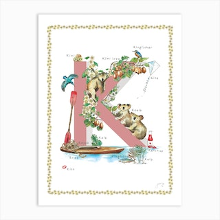 K Is For In Pink Art Print