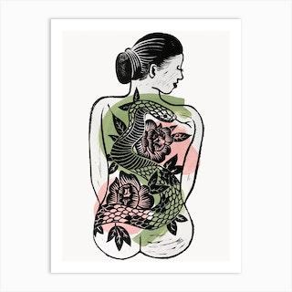 Back Tattoo Art Print