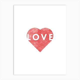 Valentines Day Love Heart  Art Print