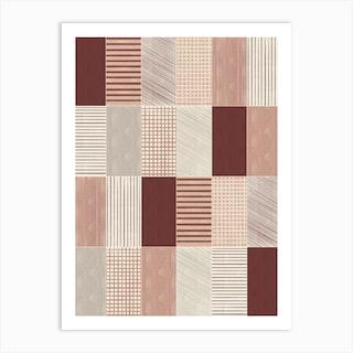 Rustic Tiles 03 Art Print