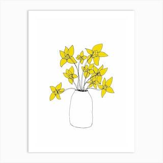 Daffodils Yellow Art Print