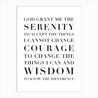 The Serenity Prayer Capitalized Art Print