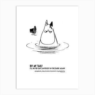 The Moomin Drawings Collection Moominpappa Art Print