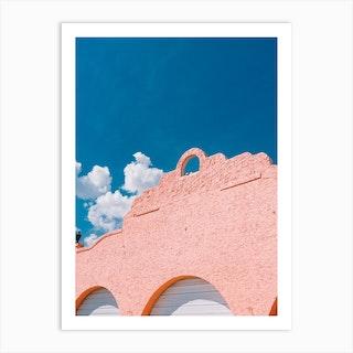 Pink + Blue Art Print