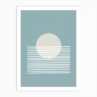 Sunset Abstract Blue Art Print