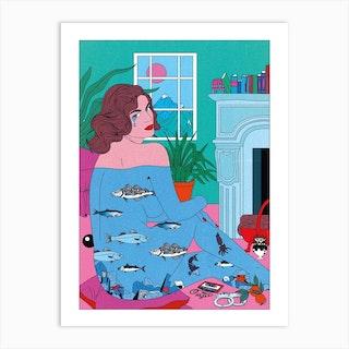 Pisces Tears Art Print