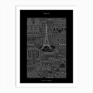 Paris Dark Art Print