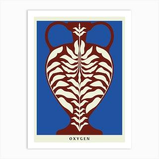 Oxygen Blue Art Print