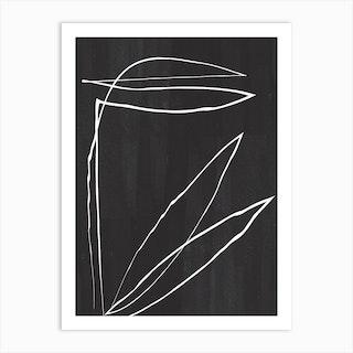 Abstract Botanic Line Drawing Art Print
