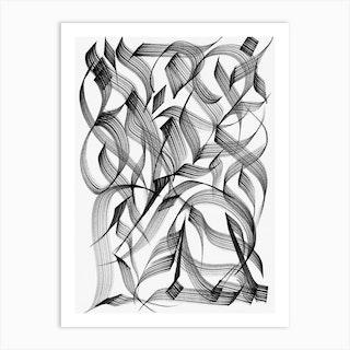 Outline Study 3 Art Print