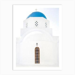 Greek Island Church Art Print