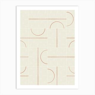 Minimal Wall Tiles 01 Art Print