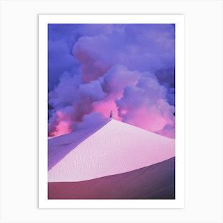 Purple Desert Art Print