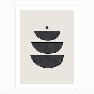 Abstract Circles Five Art Print