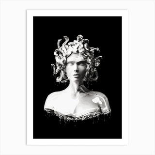 Silver Medusa Art Print