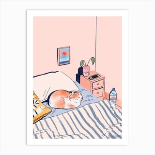 Sunday Chill Art Print