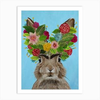 Frida Kahlo Rabbit Art Print