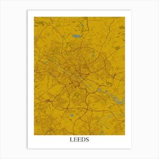 Leeds Yellow Blue Art Print