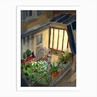 Terrasse A Paris Art Print