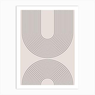 Arches Rainbow Neutral Art Print