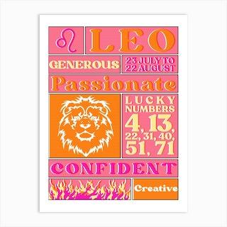 Zodiac Leo Art Print
