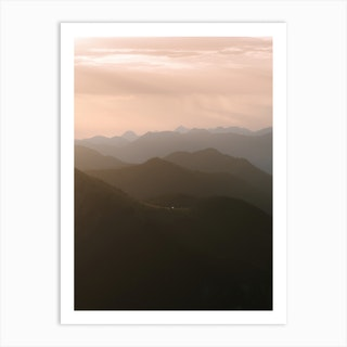 Mountain Layer Sunrise Art Print