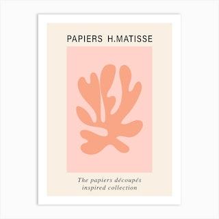 Matisse Cutout Pink Orange Poster Wall Art Art Print