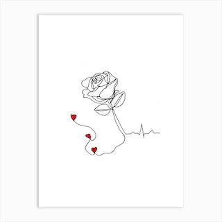 I Rose You Art Print