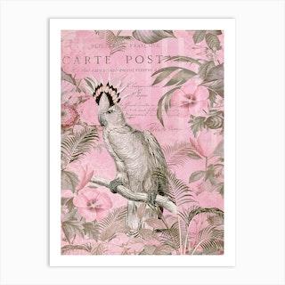 Cockatoo Paradise Pink Art Print