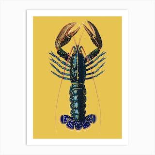 Lobster Yellow Art Print