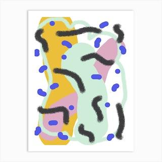 Green Squishy Waves   Art Print