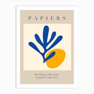 Papiers Sunrise Paper Cut Art Print