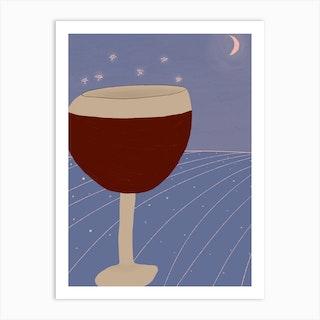 Magic Wine Art Print