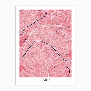 Paris Pink Purple Art Print