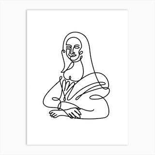 My Mona By Hen Macabi Art Print