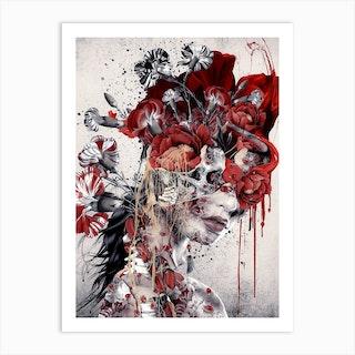 Queen Of Skull Art Print