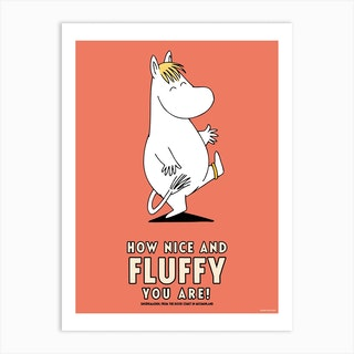 The Moomin Collection Fluffy Art Print