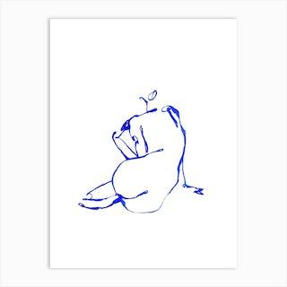 Blue Woman 9 Art Print
