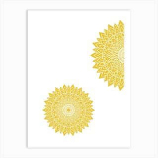 Mustard Mandala 2 Art Print