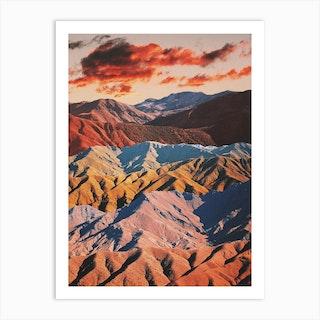 Atlas Mountains Landscape Art Print