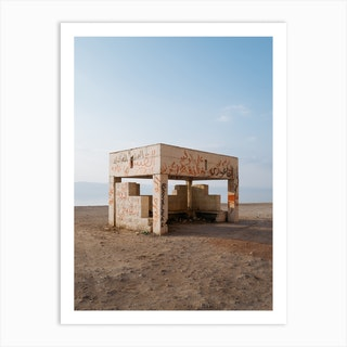 Bus Stop With A View Art Print