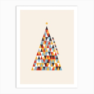 Modern Christmas Tree Art Print