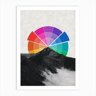 All The Colors Behind The Mountain Art Print