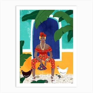 Femme Au Cigare Art Print