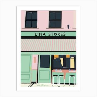 Lina Stores Art Print